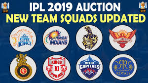 IPL 2019 All team squad
