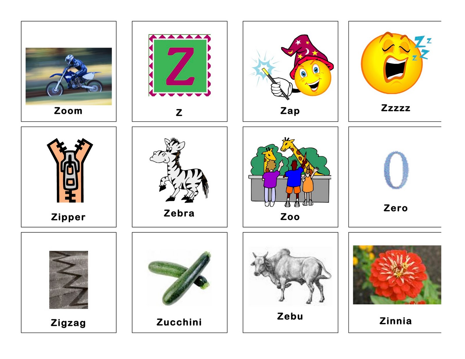 Clear Speech Therapy Z Words