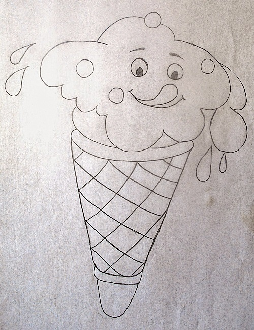 Pencil Drawing of Ice-Cream