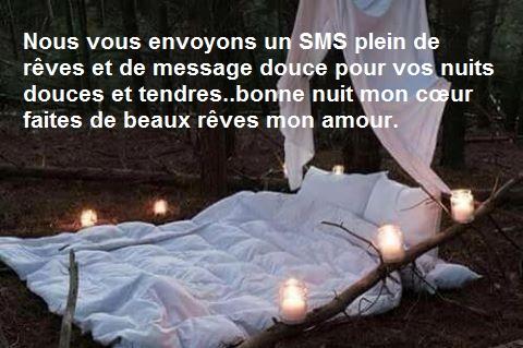 SMS et message bonne nuit mon amour   Poème d\'amour SMS romantique