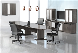 Gray Conference Table