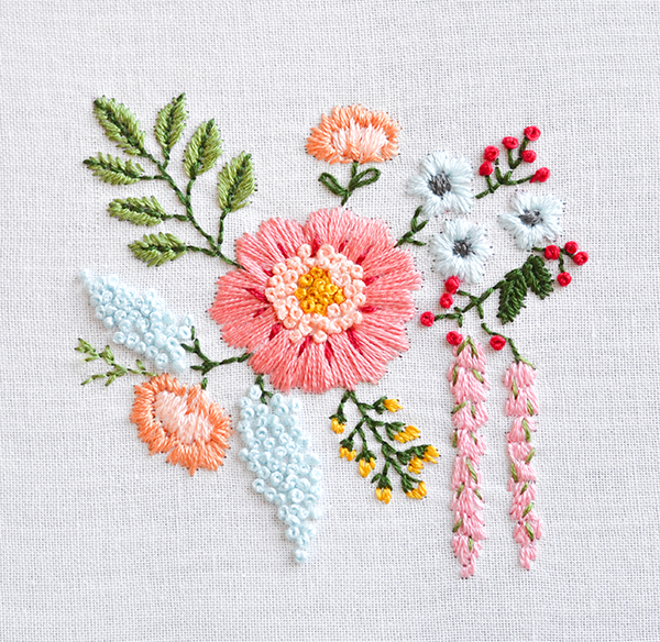 Down Grapevine Lane Embroidered Bouquet Tutorial