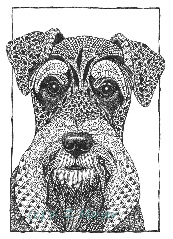 09-Miniature-Schnauzer-Kristin-Moger-Domestic-and-Wild-Zentangle-Animal-Portraits-www-designstack-co