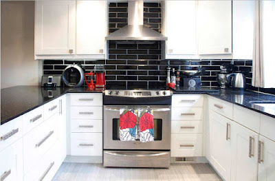 kitchen backsplash ideas and design trends 2019, black backsplash tiles