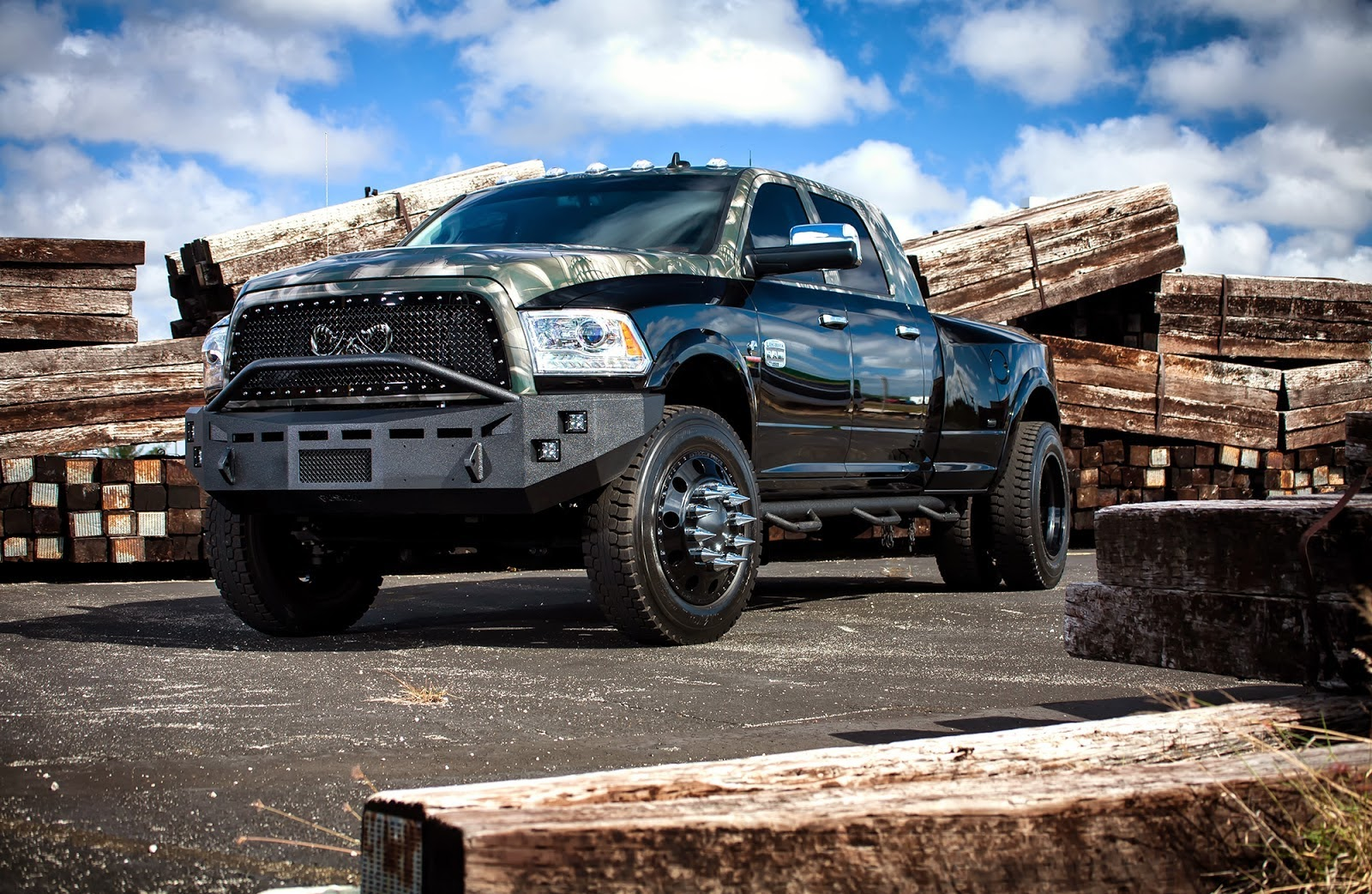 cars tuning music dodge ram longhorn 3500 dually by american force wheels. Black Bedroom Furniture Sets. Home Design Ideas