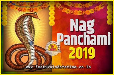2019 Nag Panchami Pooja Date and Time, 2019 Nag Panchami Calendar