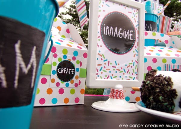 art party, confetti, chalkboard decor, marshmallow pops, Oreos