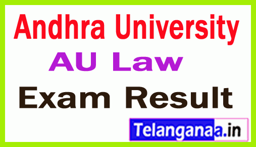 Andhra University Law 2nd Sem Degree  Exam Results Aug 2018