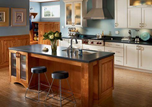 Desain Dapur Sempit Memanjang  type layout dan daerah segitiga dapur