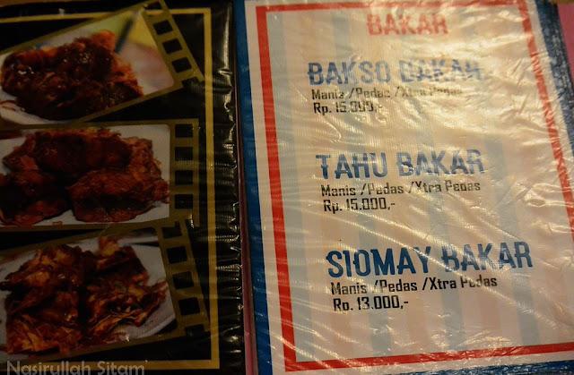 Daftar menu Bakso Bakar Pahawan Trip