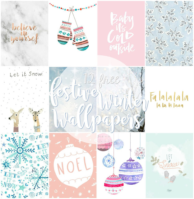 12 Free Winter Festive Phone Wallpapers
