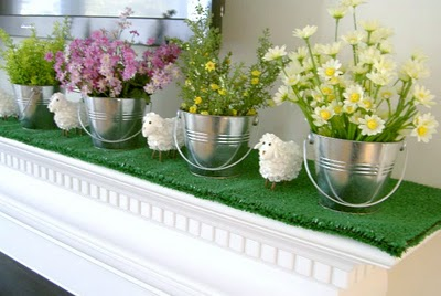 diy artificial turf mantle cover