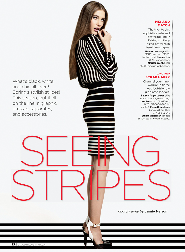 Daria Pilnitskaya Model Fashion Shoot For Shape Magazine