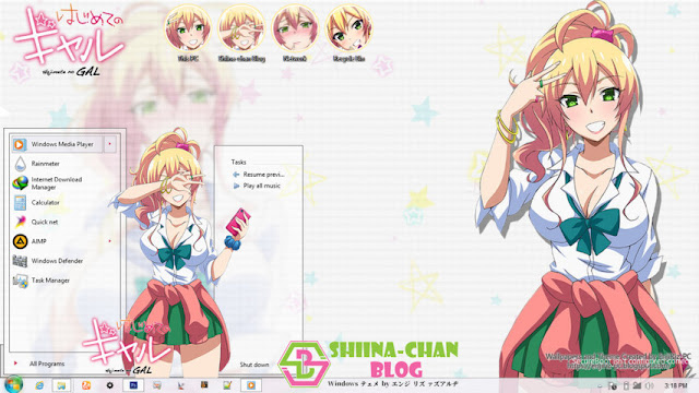 Download Tema Windows 8/8.1 Hajimete no Gal by Enji Riz