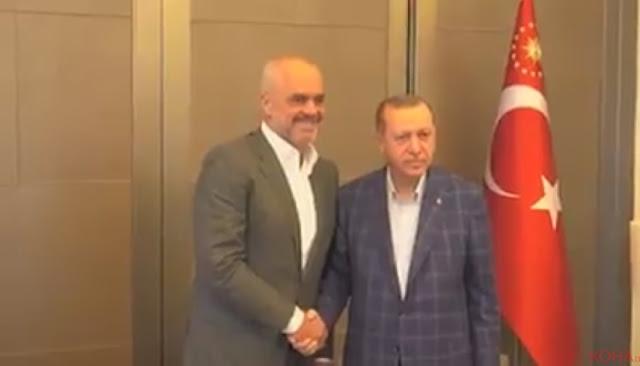 Erdogan hosts Rama in Istanbul