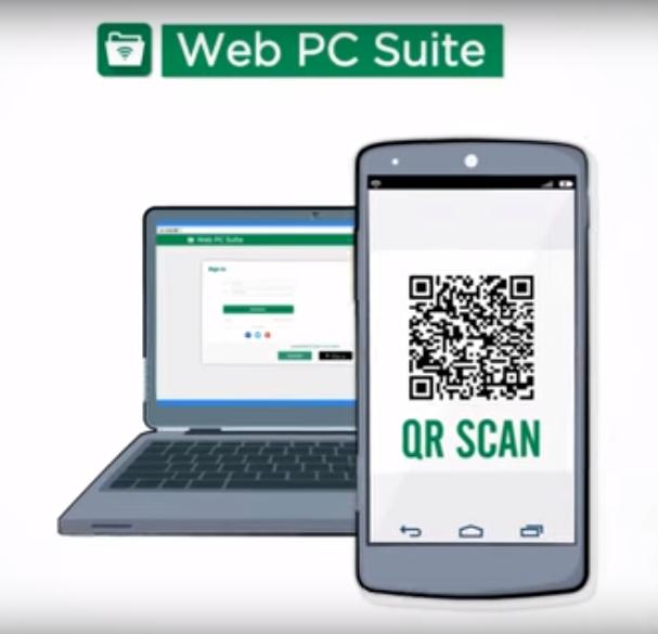 نقل الملفات من الكمبيوتر نحو الهاتف دون كابل أو روت مع Web PC Suite