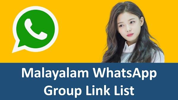 BEST Malayalam WhatsApp Group Link: Whatsapp group link Malayalam List