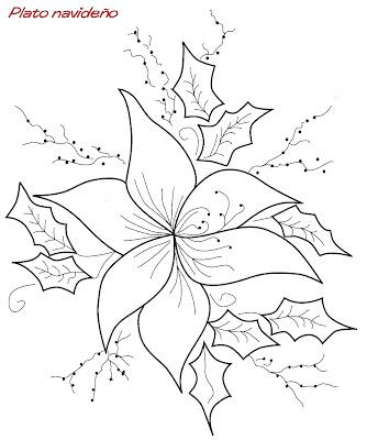 Dibujos De Flores De Navidad Affordable Dibujos De Flores Para