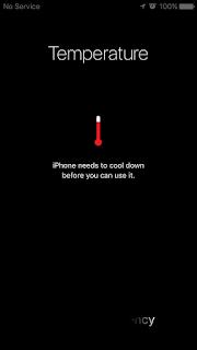 iPhoneの温度警告