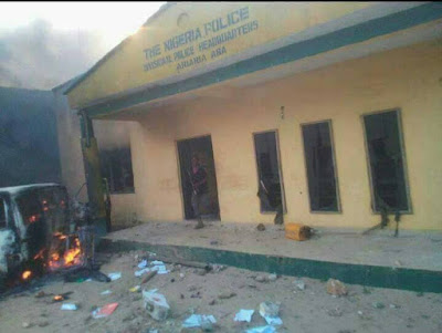Aba: Ariaria International Market Police Station set ablaze [PHOTOS]