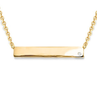 Missoma - Gold Engravable Bar Necklace - Five alternatives to an engagement ring