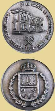 Medalla del 125 aniversario de la Escuela de Facultativo de Minas de Mieres