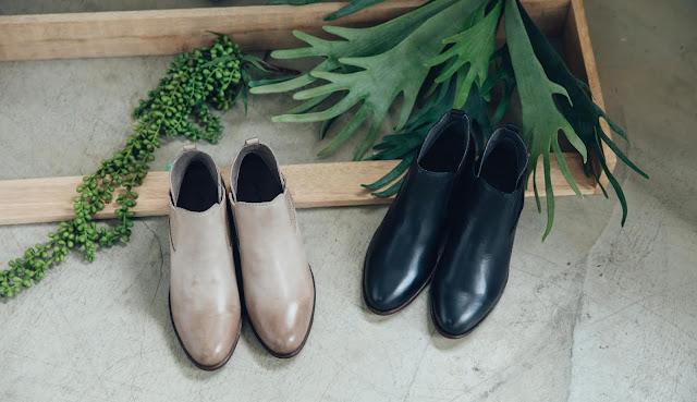 許許兒曠野之聲低跟真皮靴