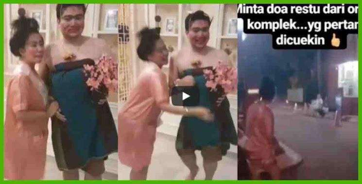 Akan Melangsungkan Pernikahan 8 Juli 2018, Mantan Artis Cilik Ini & Calon Suaminya Kenakan Kostum Nyeleneh Diarak Keliling Komplek! Lihat Vidieonya