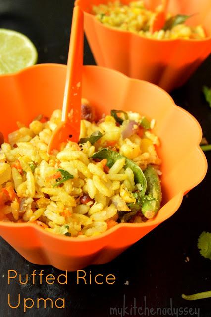 puffed rice upma1