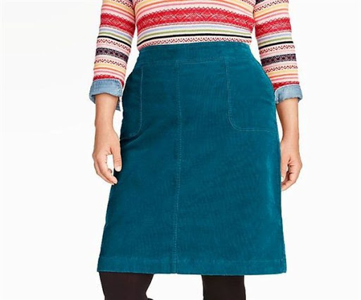plus size corduroy skirt