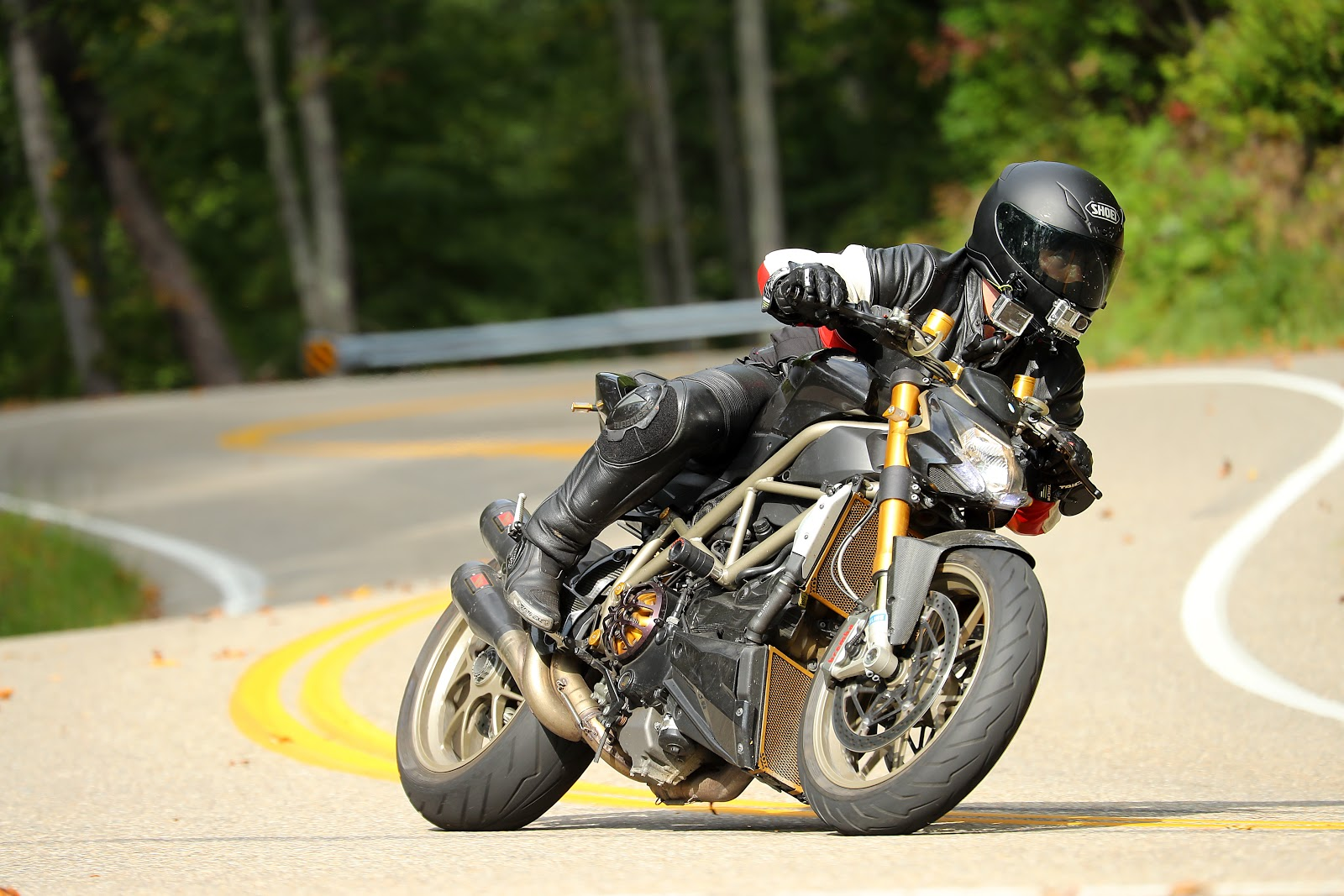Tigh Loughhead rides Ducati Streetfighter Motorcycles at the Tail of the Dragon North Carolina