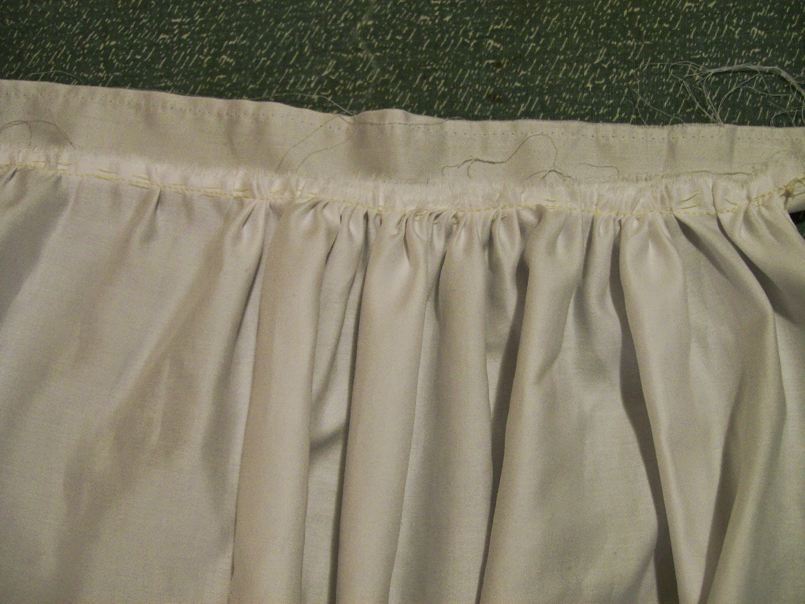 Skirt for Regency bodiced petticoat.