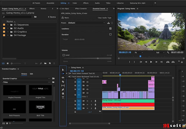 Adobe Premiere Pro CC 2017 v11 DMG File For Mac OS Offline Setup File Free Download