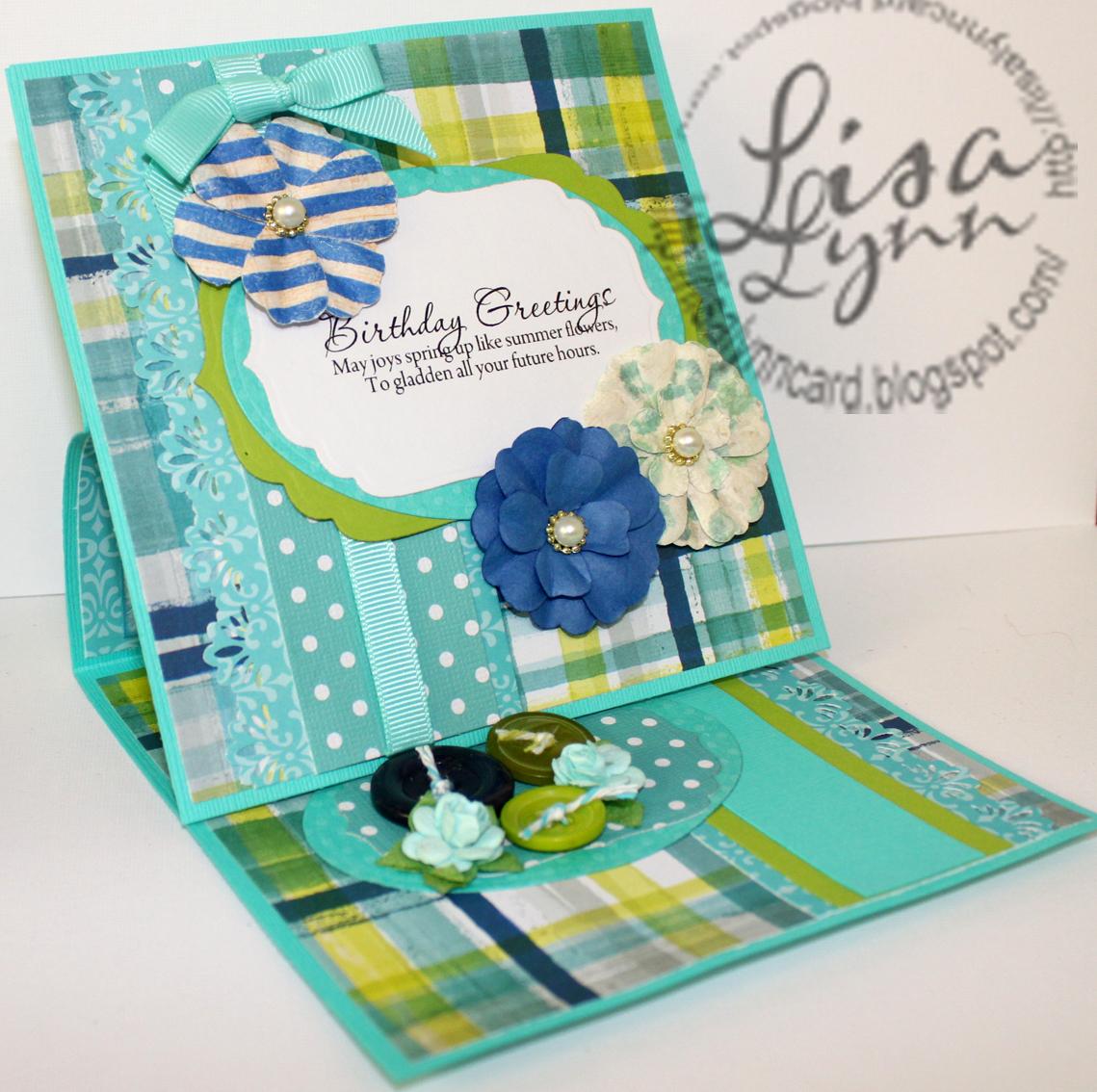 Lisa Lynns Card Creations Birthday Greetings With Summer Flowers