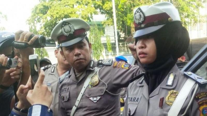 Bripda Tiara, petugas Polsek Medan Timur yang ditampar pemilik Hotel Ardina