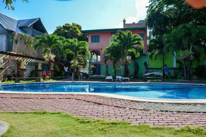 Pool area of La Solana Suites in Puerto Galera