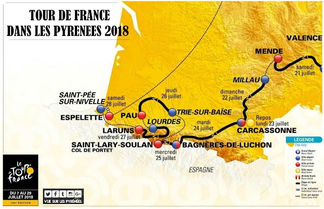 Tour de France dans les Pyrénées Pays Basque Béarn 2018