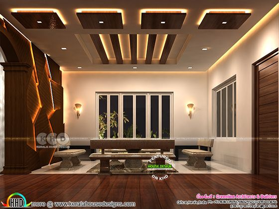 Living and upper living interior designs