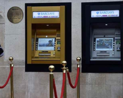 The first ATM in the world Clocks 50 Years