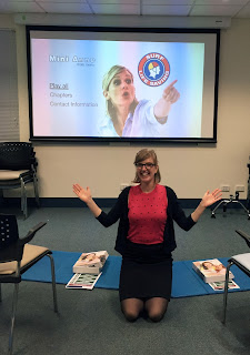 Susie Cartledge with the Laerdal CPR training kits
