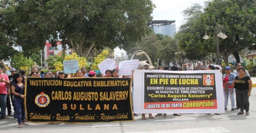 Exigirán al gobierno culminar colegio Salaverry de Sullana - Piura