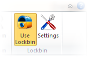 Screen shot of Lockbin Outlook add-in.