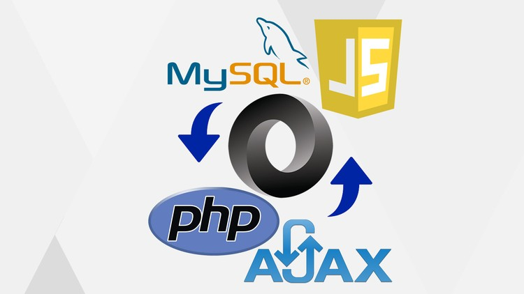 JSON AJAX data transfer to MySQL database using PHP - Udemy course