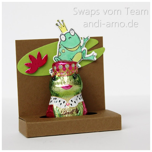 Stampin Up Team-Swaps andi-amo Frosch Verpackung