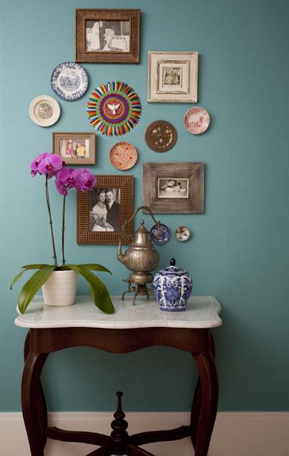 decoração-parede-com-aparador