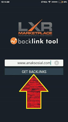 masukkan URL blog ke aplikasi cek backlink
