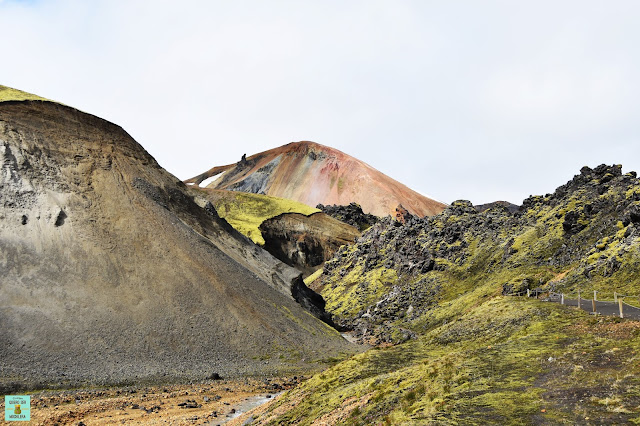 Garganta Graenagil en Landmannalaugar, Islandia