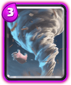 Carta do Tornado do Clash Royale