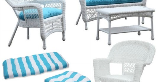 Ideal White Outdoor Wicker Seating with Coastal Flair Shop the Look Completely Coastal