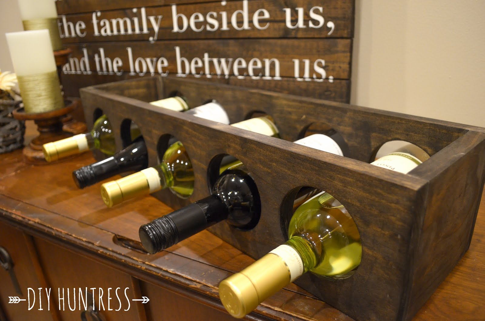 DIY Wooden Wine Rack - DIY Huntress
